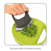 Zeal Rock and Drop Mezzaluna & Cutting Board Herb Chopping Set
