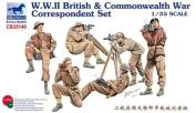 BNC35140 1:35 Bronco WWII British & Commonwealth War Correspondent Set (6 Figures + Equipment) MODEL KIT