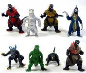 Godzilla Monsters 8 Action Toy Figure Figures Set