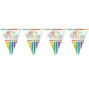 3.7m Rainbow Birthday Flag Banner