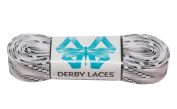 Smoke 240cm Waxed Skate Lace - Derby Laces for Roller Derby, Hockey and Ice Skates, and Boots