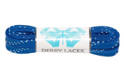 Blue 150cm Waxed Skate Lace - Derby Laces for Roller Derby, Hockey and Ice Skates, and Boots