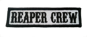 Reaper Crew Outlaw Embroidered Anarchy Biker [10cm ] Patch Black
