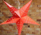 Large Red Hanging Star Lantern Without Lights