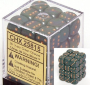 Chessex Dusty Green 12mm D6 Opaque Dice Block of 36