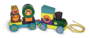 Oops 2-in-1 Little Helper Pull Along Wooden Train and Puzzle with Removable and Stackable Parts