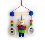 Hess Wooden Baby Toy Mini Trapeze Bear Sam Clip On