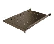 Fixed Rack Server Shelf 1U 48cm 4 post Rack Mount - Adjustable from 60cm - 80cm