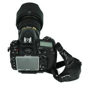 FotoTech Professional 100% GENUINE LEATHER Hand Wrist Strap Grip for CANON NIKON SONY Pentax Olympus OM DSLR/SLR/EVIL Camera with FotoTech Velvet Bag