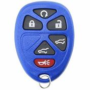 KeylessOption Replacement 6 Button Keyless Entry Remote Control Key Fob -Blue
