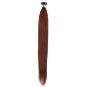 Beauty7 Stick/ I Tip Hair Extension Remy Real Human Hair 100g/50g(1g/strand) Dark Auburn (#33) Hair Colour Straight Hair 46cm 50cm 60cm 60cm