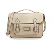 Vintage Large YASMIN BAGS 34cm Unisex Faux Leather Satchel/Cross Body Bag - with FREE trolley/locker coin keychain