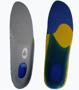 Massaging Gel Shoe Insoles Inserts Heel Cushion. Dual Density. Odour control