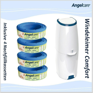 angelcare comfort nappy bin with refill pack of 4 nappies by angelcare shop online for baby in. Black Bedroom Furniture Sets. Home Design Ideas