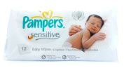 Pampers Sensitive Baby Wipes 48 x Pack of 12 Wipes