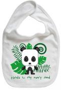 Dirty Fingers, Panda to my every need, Baby Cute Feeding Bib, White
