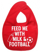 Dirty Fingers, Feed me with Milk & Football, Unisex World Cup Feeding Bib, Red