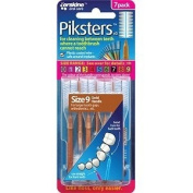 Piksters - for cleaning between teeth Size 9 Brown 7 Brushes Pack
