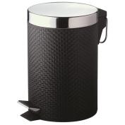 Black Woven Style Pedal Bin