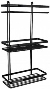 Satina Black 3 Tier Rectangle Wall Caddy -made in Sweden
