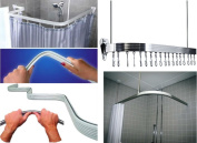 Quality Non Rust Chrome Bendi Flexible Adjustable U L P Shape Corner Shower Curtain Rail Track