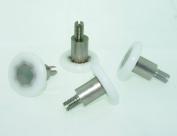 4 x Sliding Shower Door Rollers/Runners/Wheels 21mm Diameter by 4mm thick LW023