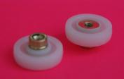 4 x Shower Door ROLLERS/ Runners/ Wheels 20mm Wheel Dia - Replacement Parts L049