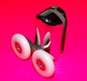 2 x Bottom Chromeplate Double Shower door ROLLERS /Runners/Wheels L061 23mm wheel diameter
