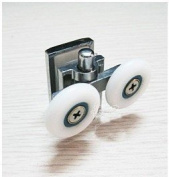 2 x Double Bottom Zinc Alloy Shower Door ROLLERS /Runners/Wheels 26mm wheel diameter K051