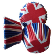 Scrumptious 51 x 38 mm Greaseproof Union Jack Cupcake Cases