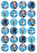 Frozen PRECUT Edible Wafer Rice Paper 24 x 4.5cm Cupcake Toppers/Decorations