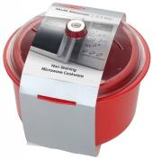 Easycook Microwave Rice and Vegetable Steamer RED 2.5lt