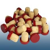 VinClasse® Push Fit Flanged Wine Stoppers / Corks - Red - Pack Of 24