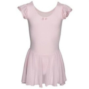 Girls Ballet Dance Dress Capezio Pink Flutter Sleeve
