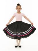 Girls Pink & Lilac Ribbon RAD Character Skirt Dance Ballet By Katz Dancewear