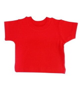 BabywearUK BABY T-SHIRT - Red - 6-12 months - British Made