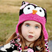 Cute Baby Girl Boy Crochet Hat Kids Knit Handmade Cap