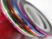 10 Colour Rolls Nail Art Tape