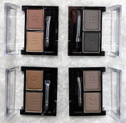 Compact Eyebrow or Eyeshadow Powder 2 Shade Palette Kit (2 x 4.5g) With Brush- 4 Colours Available