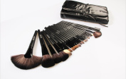 Beau Belle 24Pcs Black Makeup Brushes Kit Professional Cosmetic Make Up Set + Pouch Bag Case