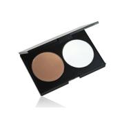Pressed Powder Foundation Palette Cosmetic Makeup Contour Soft 2 Colour
