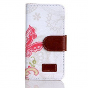 Atdoshop(TM) 1PC Fashion Flower Wallet Magnet Design Cover Case for Iphone5 5G 5S