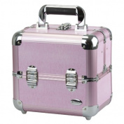 Blush Professional Pink Aluminium Cosmetics and Make-up Beauty Case