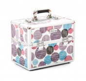 Urbanity Classic Purple Spots Professional Aluminium Beauty Cosmetics Makeup Case