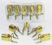 Restly(TM) 10pcs Golden Reusable UV Gel Acrylic Nail Art Tips Extension Guide Form Tool