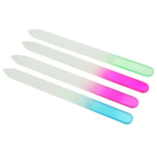 4 Colour Crystal Glass Nail Art Files Manicure Tool Kit