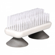 One handed nail brush with suction cups