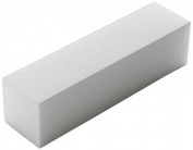 The Edge White Sanding Block 220/240 Grit 4-Way For a Soft Acrylic Nail Finish
