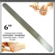 CANDURE® - Special Offer 'Candure' Diamond Deb Foot Dresser and Diamond Deb Nail File 15cm - Steel, Top Quality Product