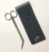 Professional Extra Long Handled Stainless Steel Toe Nail Scissors (Angled) - Chiropody Podiatry